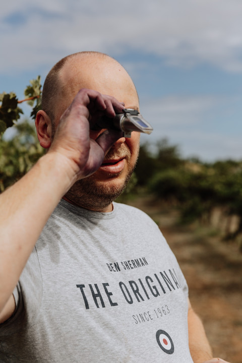 Michael Papps in the vineyard