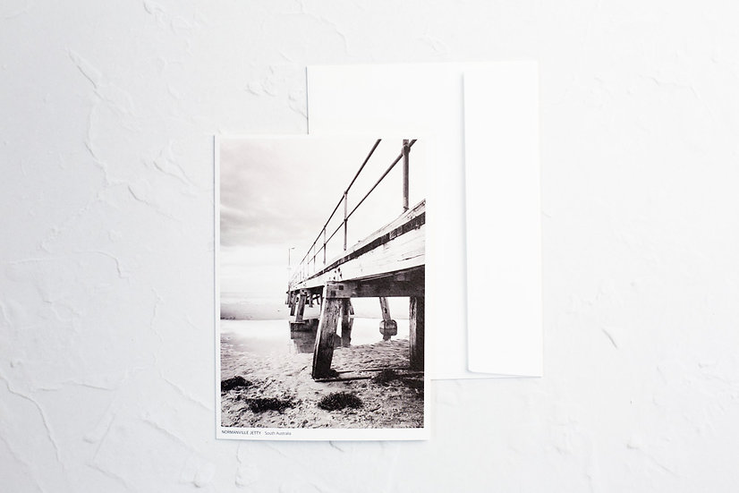 Normanville Jetty Blank Card