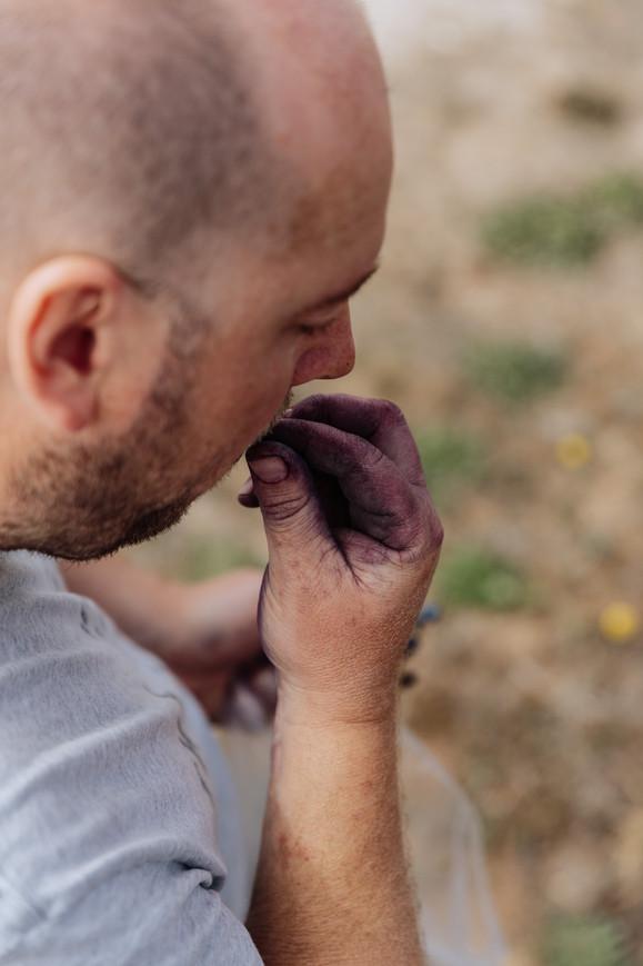 Michael Papps Sampling Grapes
