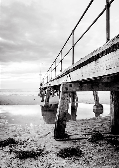 Normanville Jetty- Grainy Style B+W