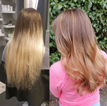 From grown out blonde touchups to luscio
