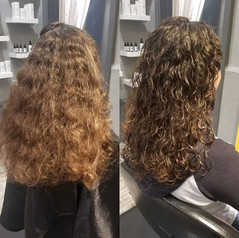 Before and after DevaCurl haircut 💛_•_•
