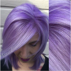 That lavender ombre! 🔮💜 #hairstylist #