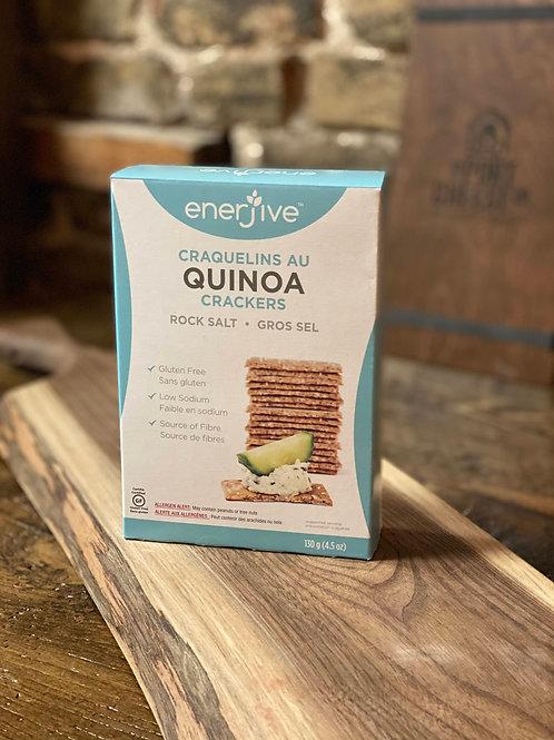 Enerjive Quinoa Crackers - Rock Salt