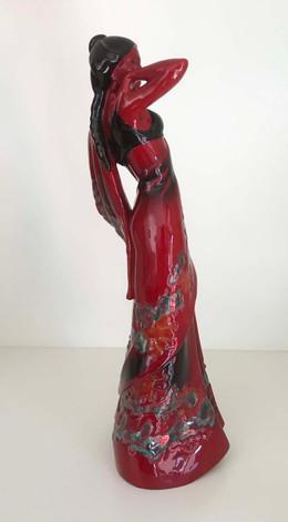 EG6.jpgRoyal Doulton Eastern Grace Flambe Figurine