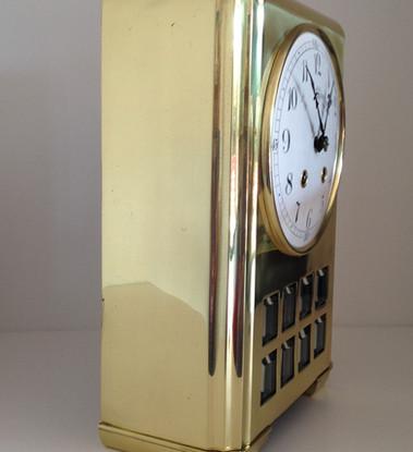 Lenzkirch German Brass Art Deco Clock