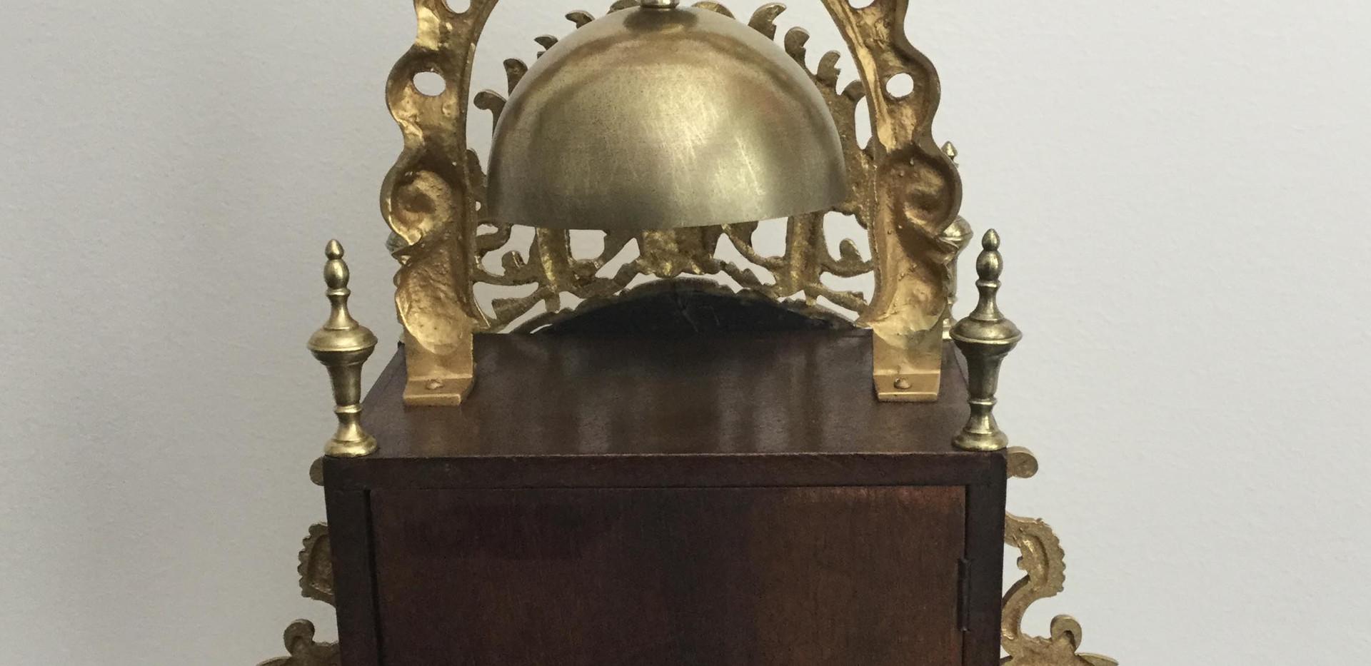 French Brass Lantern Clock, Verso