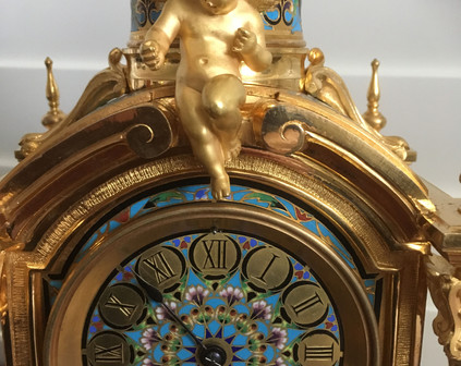 Champleve Enamel Clock Face