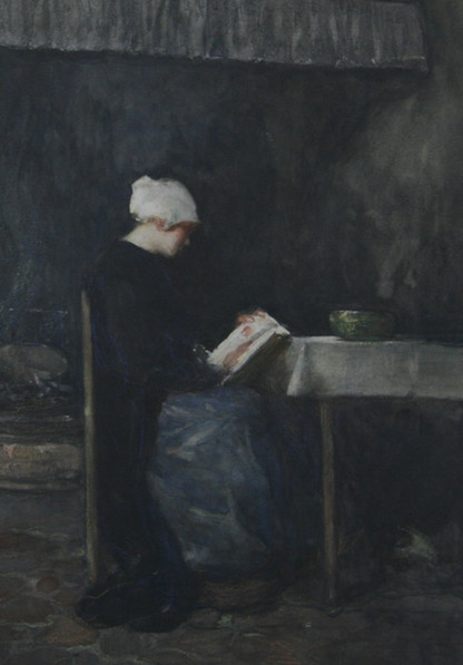 Dudley Hardy, Woman Reading