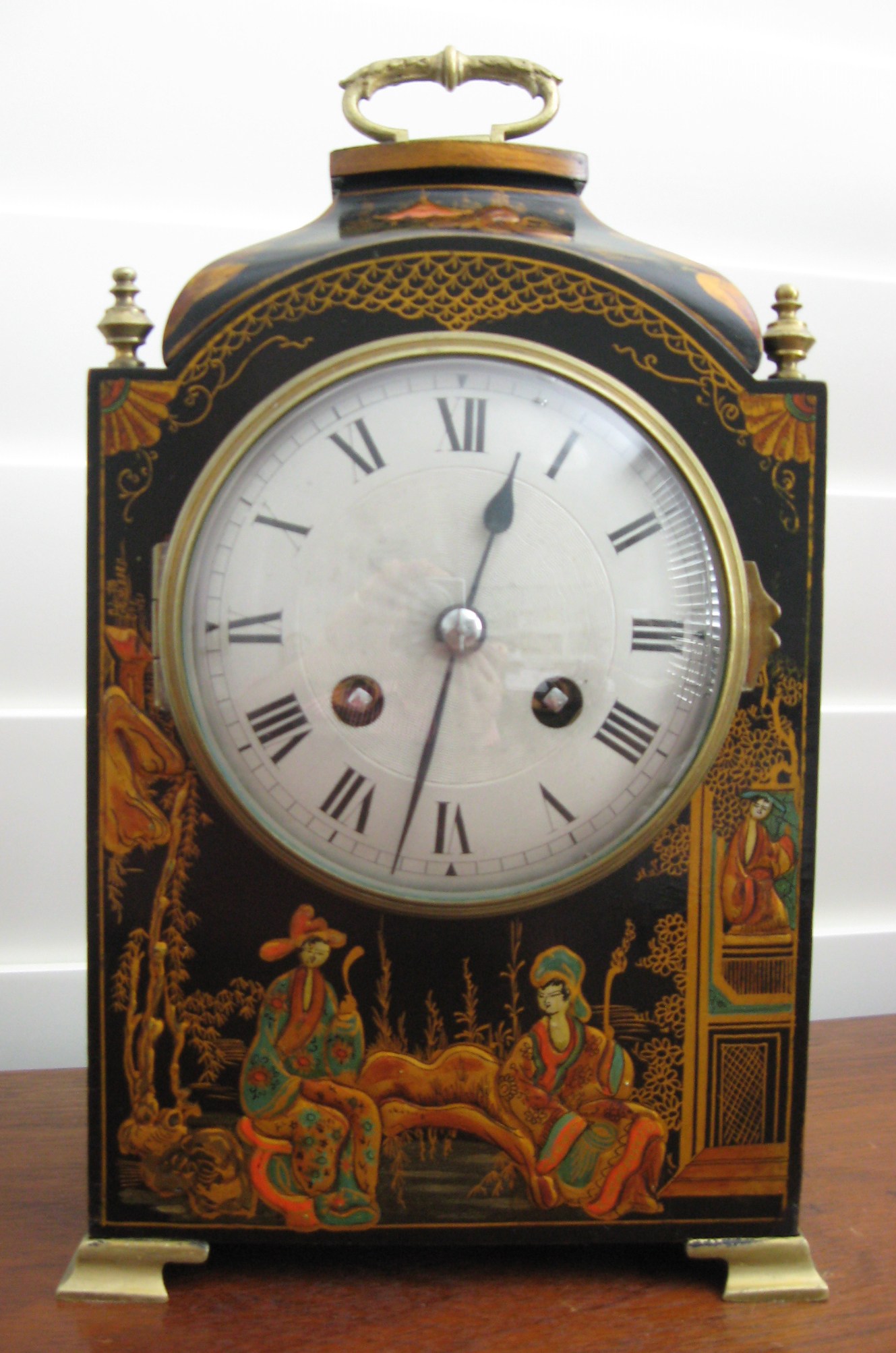 Black Chinoiserie Clock