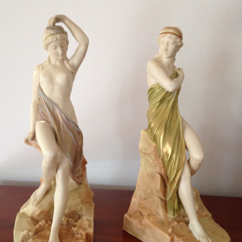 Royal Worcester Isis and Sabrina Figurines