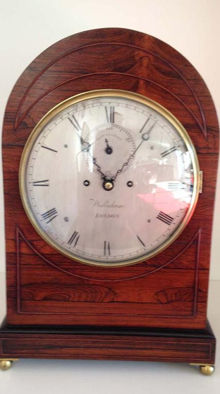 Regency Rosewood Bracket Clock Circa 1830