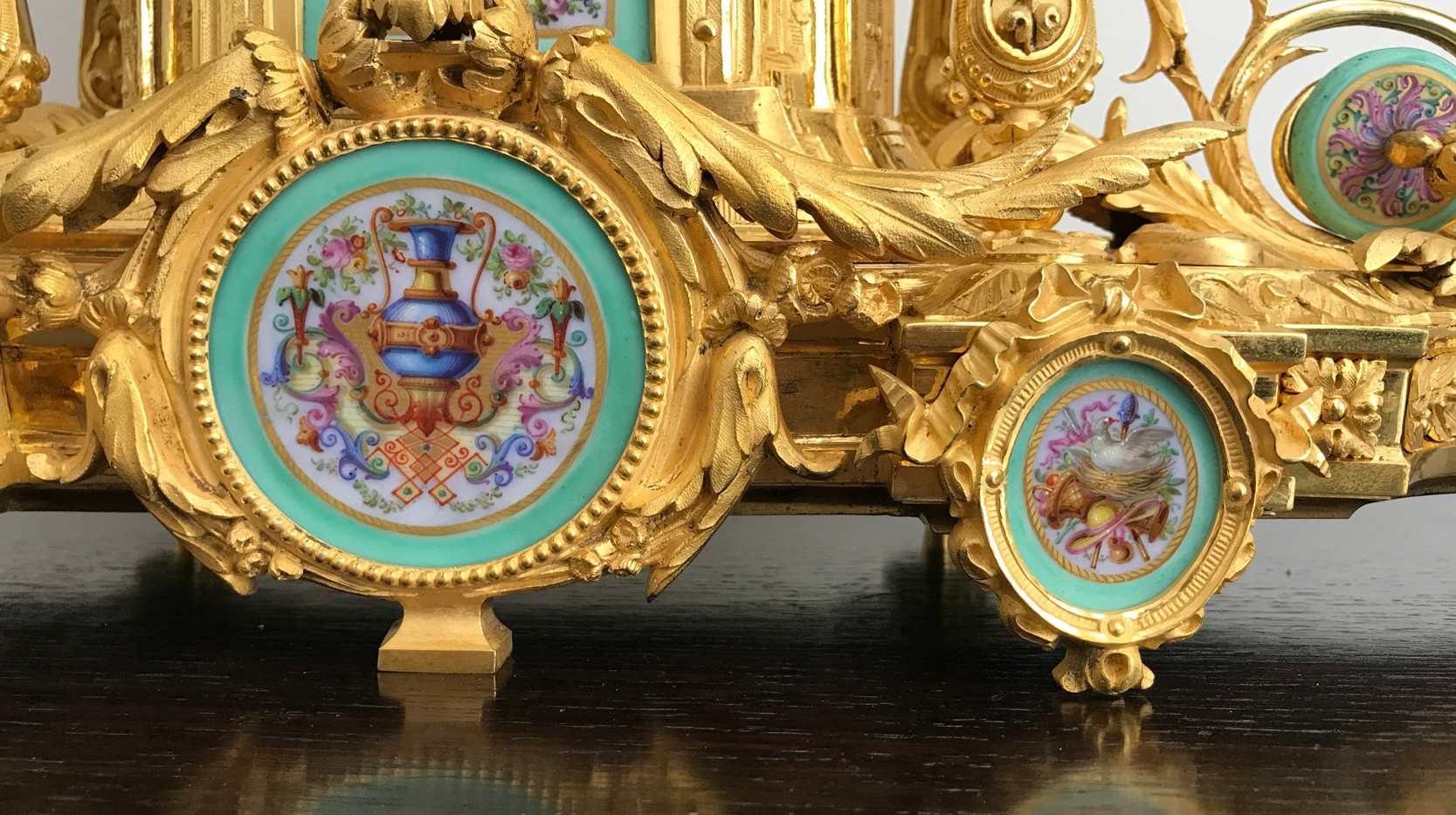 Napoleon Gilt Bronze Mantel Clock