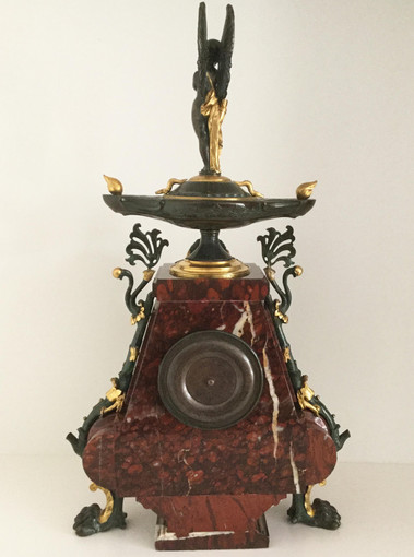 Charpentier Bronze and Marble Clock, Verso