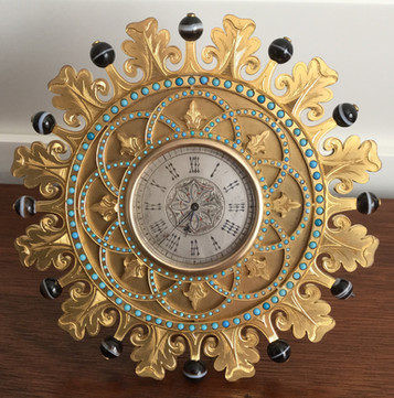 Howell James Gilt Bronze Strut Clock