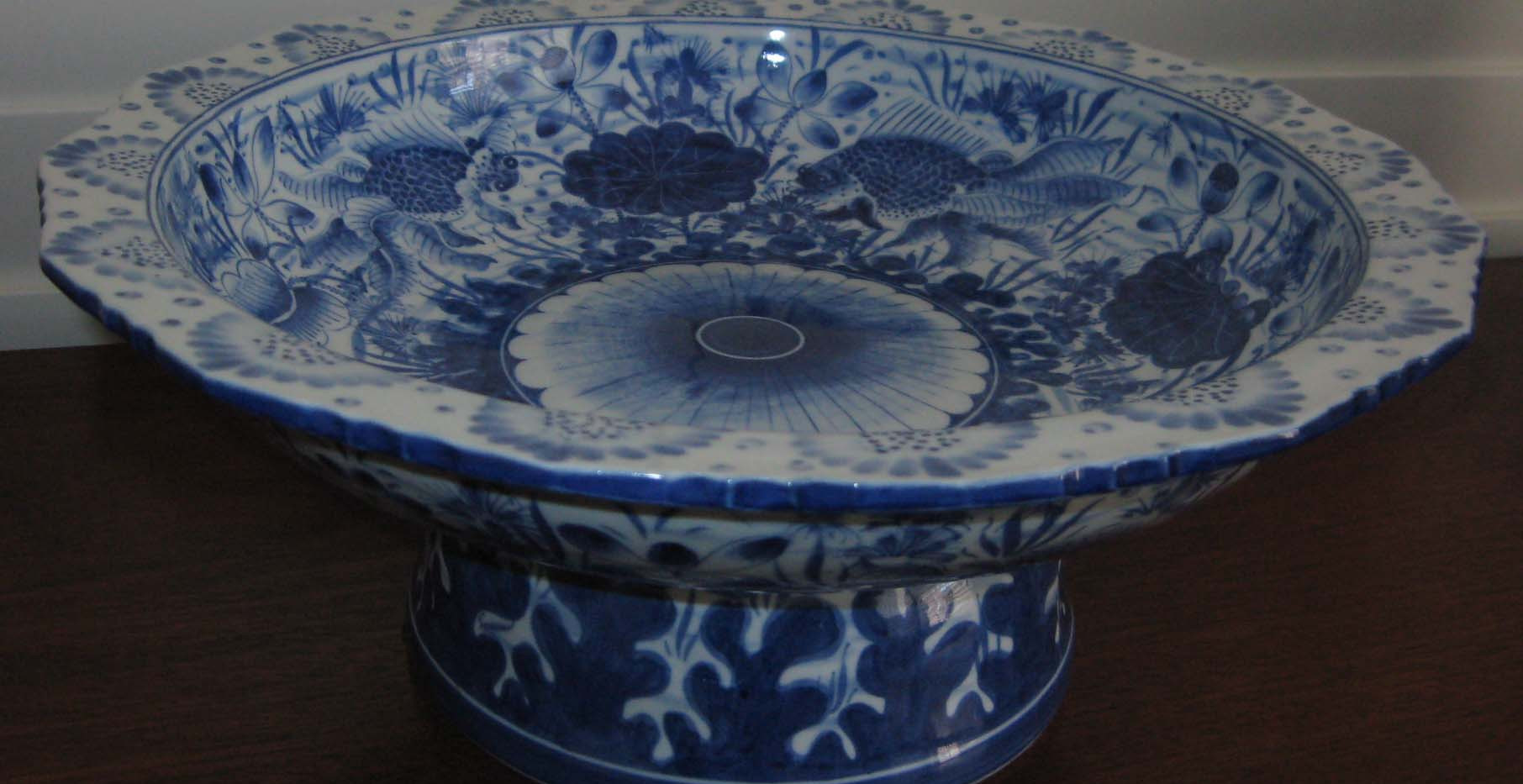 Qing Period Blue & White Comport