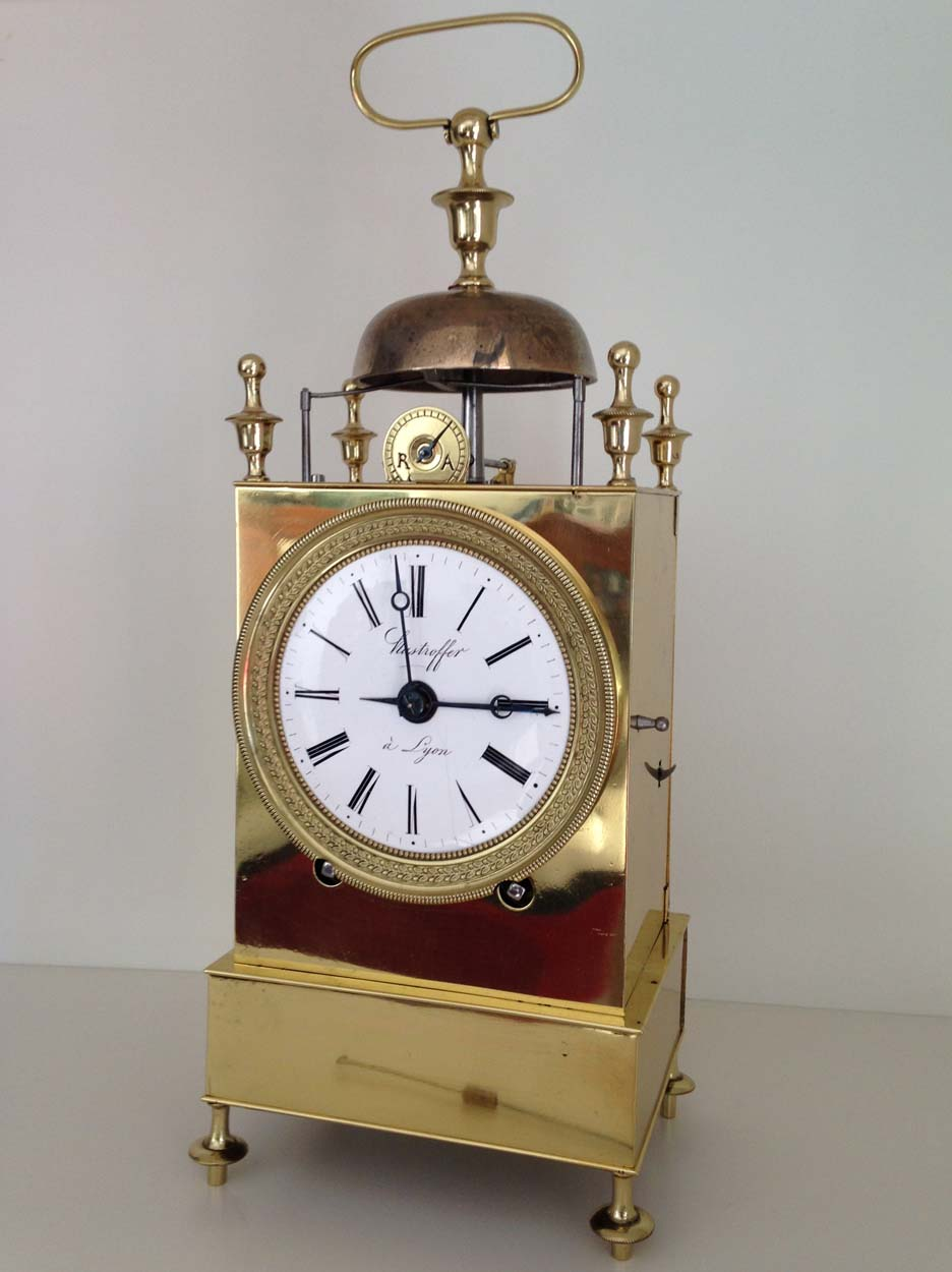 French Capucine Clock Hastroffer a Lyon