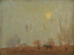 Charles Wheeler Oil on Canvas