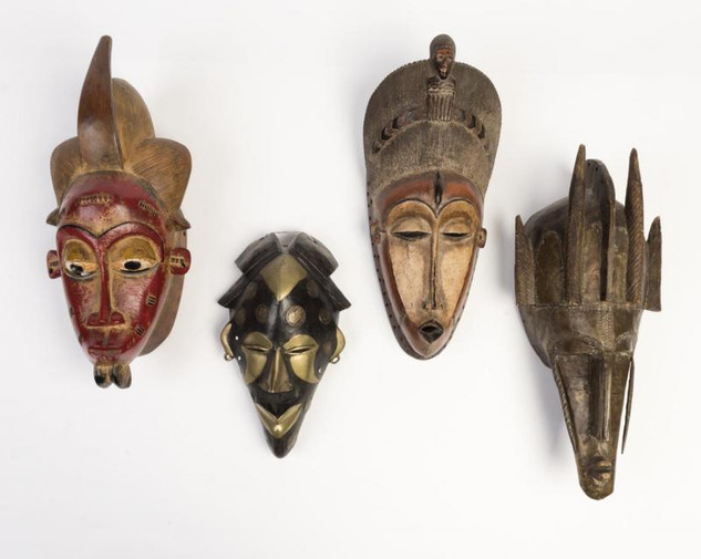 Four West African Tribal Masks