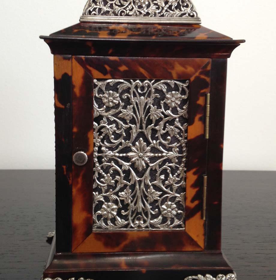 John Batson Silver & Tortoiseshell Carriage Clock