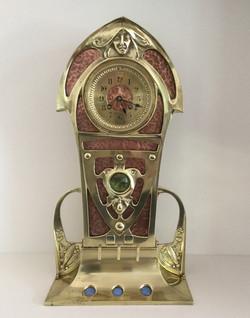Art Nouveau Brass & Copper Clock