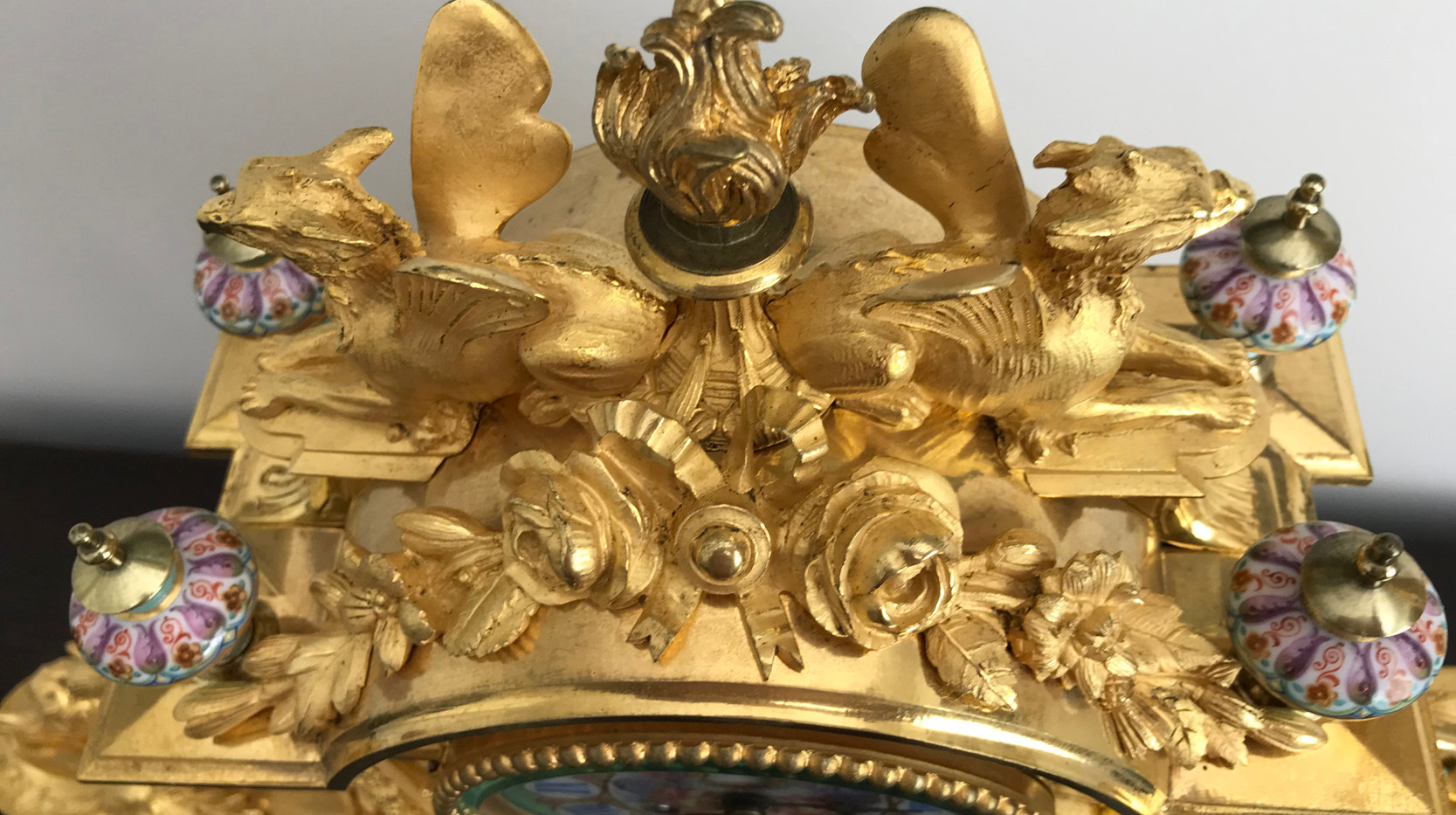 Napoleon III Gil Bronze Mantel Clock