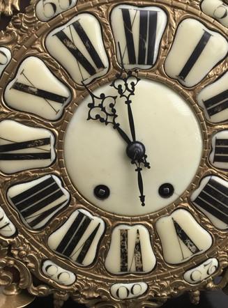French Brass Lantern Clock Dial