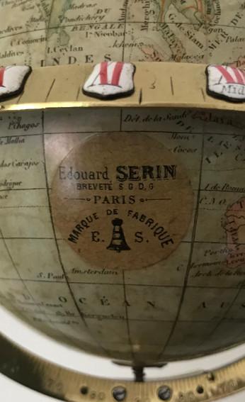 Edouard Serin Globe Clock