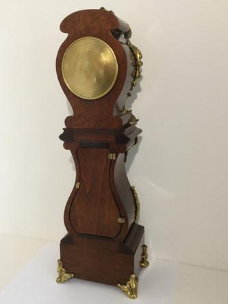 Rococo Miniature Longcase Clock, Verso