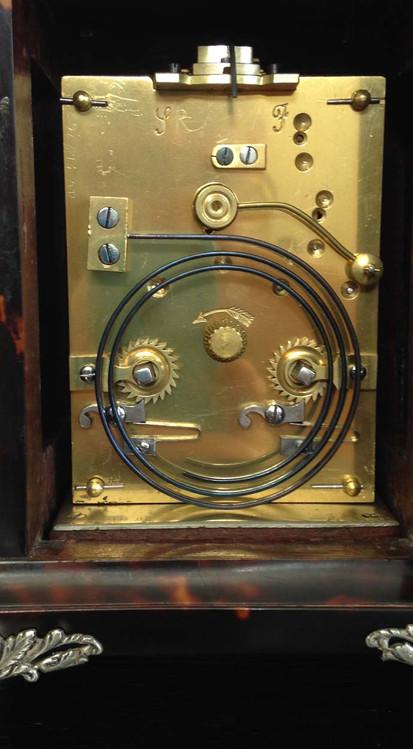 Tortoiseshell & Silver Carriage Clock Movement John Batson