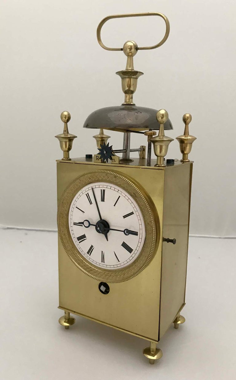 French Capucine Officers Alarm Clock