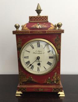 Red Chinoiserie Bracket Clock