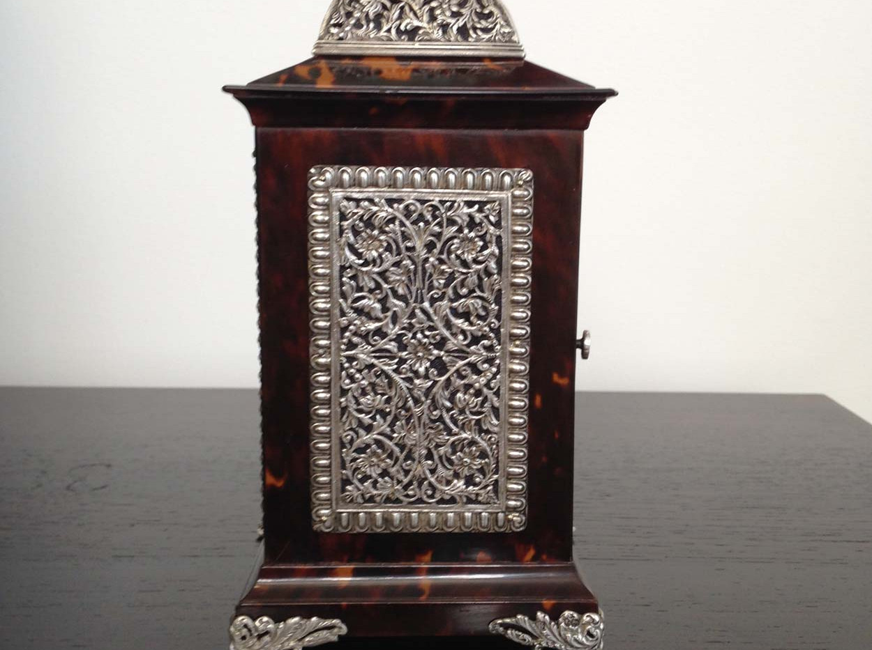 Tortoiseshell & Silver Cased Carriage Clock