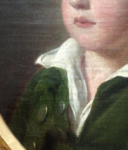 18th Century English School Oil Portrait Of A Boy