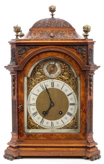 Lenzkirch Walnut Bracket Clock