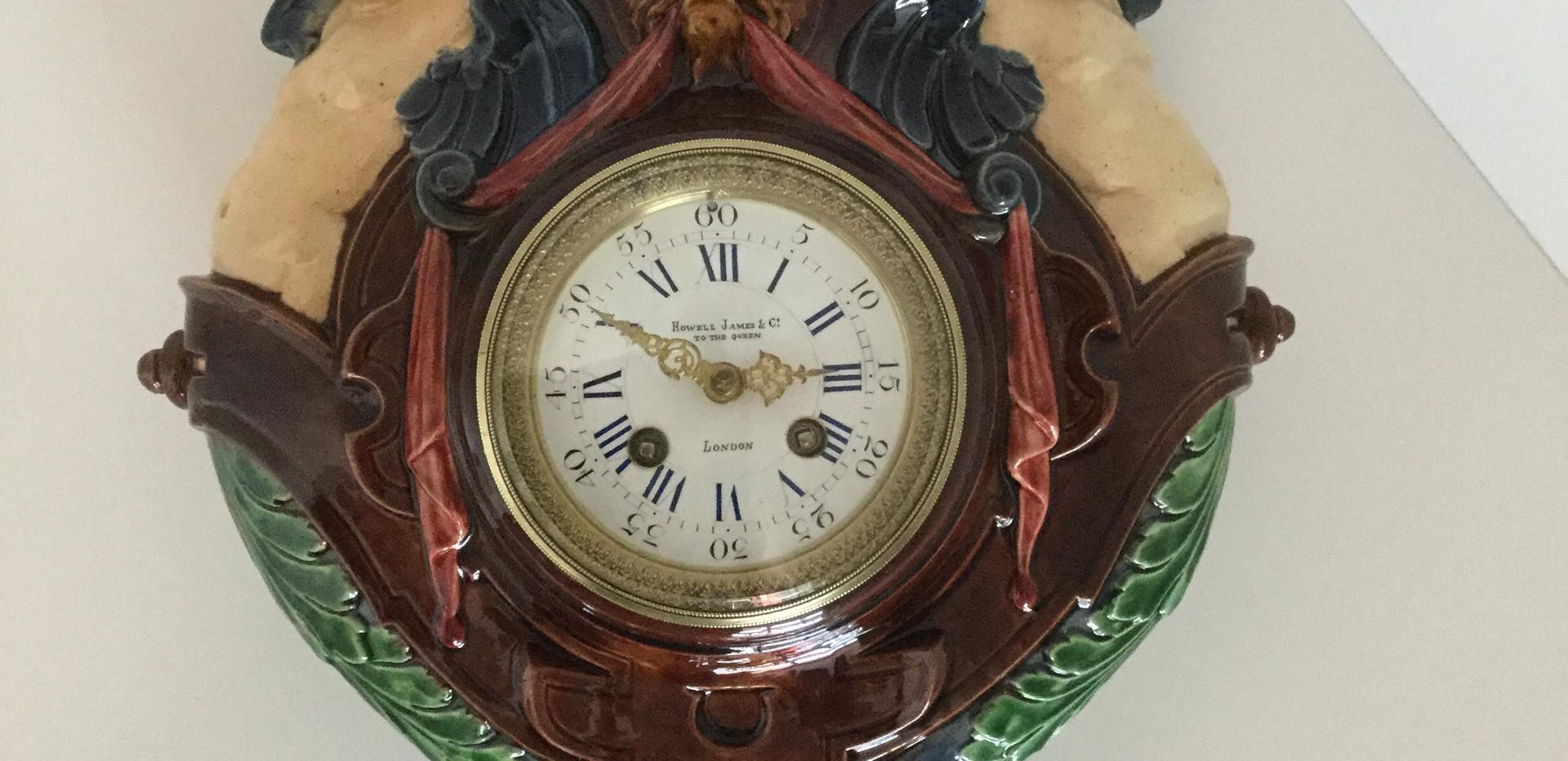 Palissy Majolica Clock