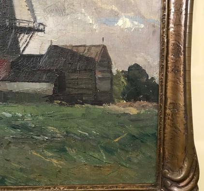 Sir William Ahton Windmill Oil Painting