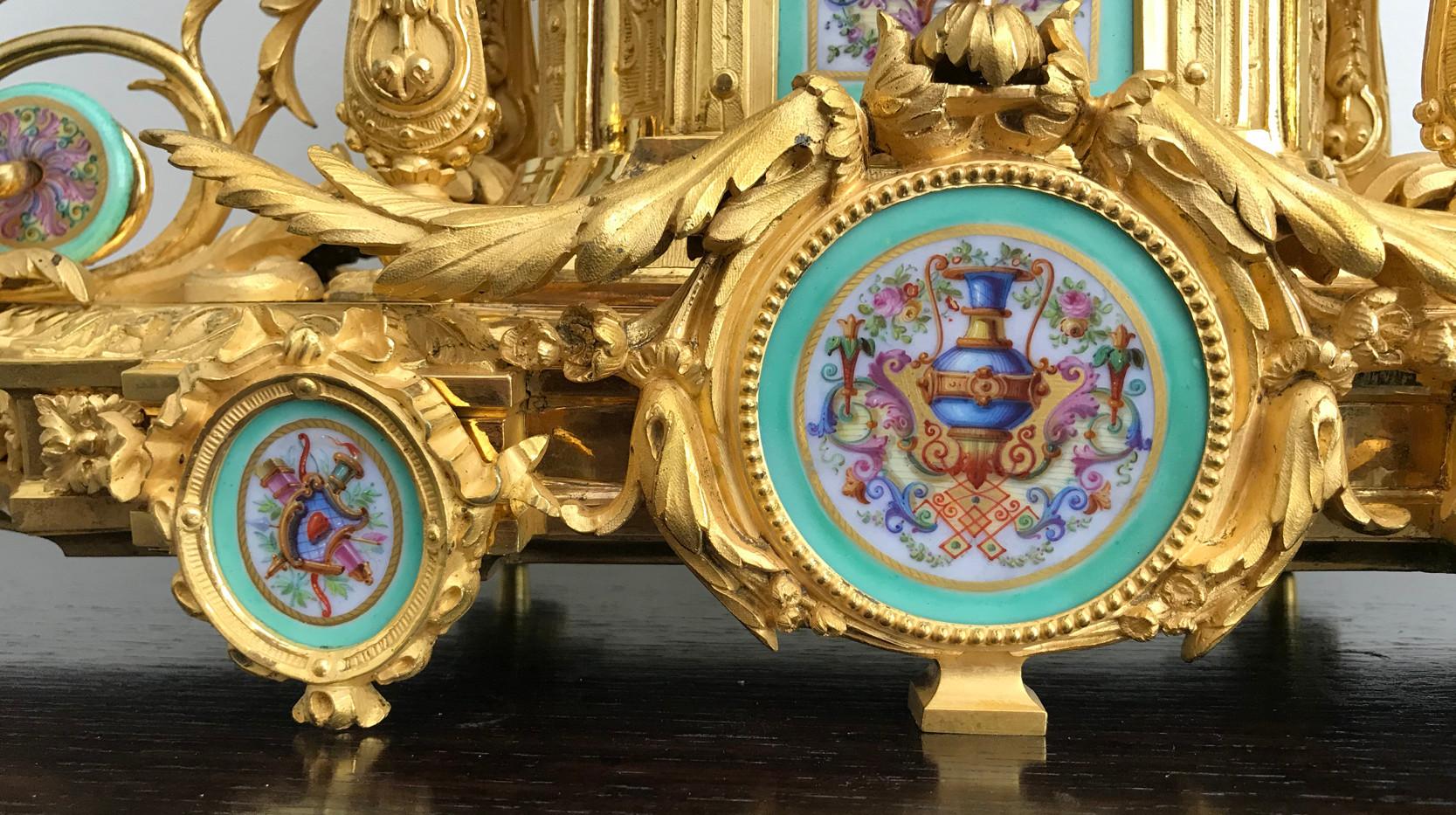 Napoleon III Gilt Bronze Mantel Clock