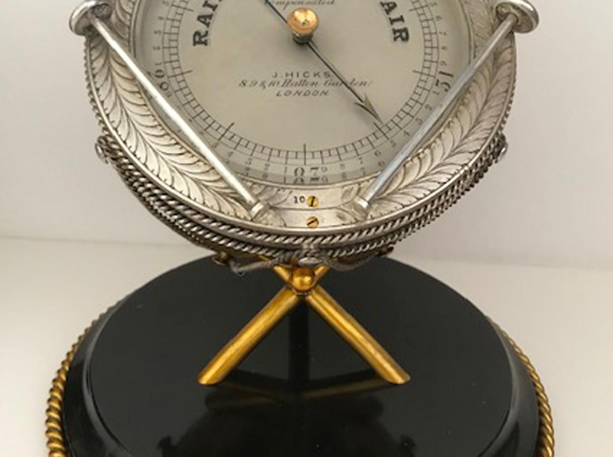 JJ Hicks Novelty Aneroid Barometer