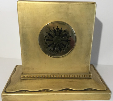 French Carved Giltwood Clock, Verso
