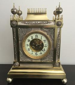 Gothic Brass & Silver Clock