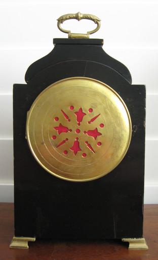 Black Chinoiserie Mantel Clock, Verso