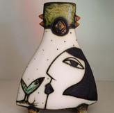 Charmaine Haines Pottery Face Vase