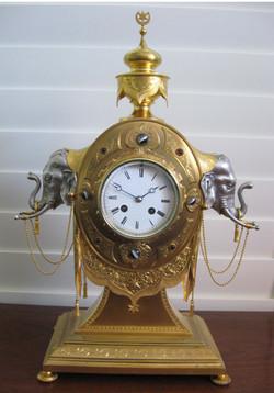 Gilt Bronze Elephant clock