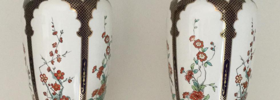 Royal Worcester Japonesque Vases
