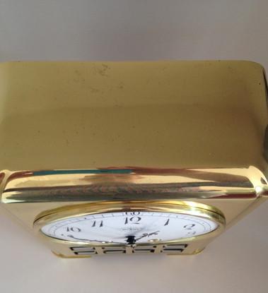Lenzkirch Brass Art Deco Mantel Clock