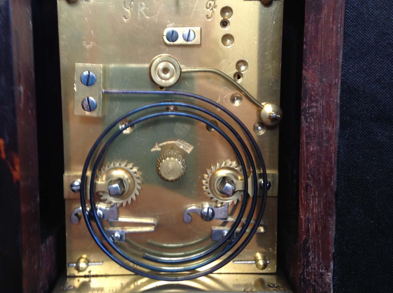 J Batson Victoria Tortoiseshell Clock
