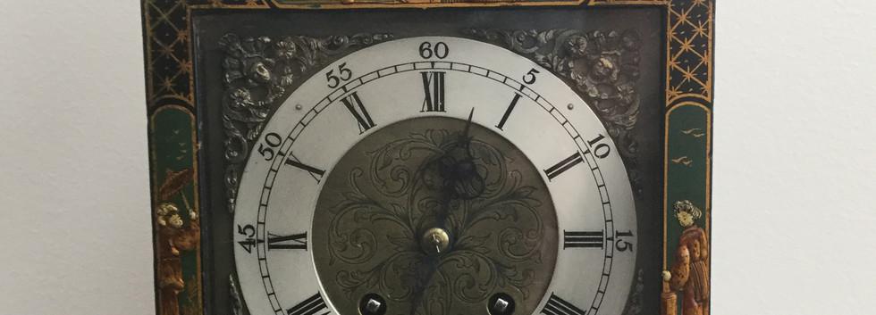 Green Chinoiserie Bracket Clock