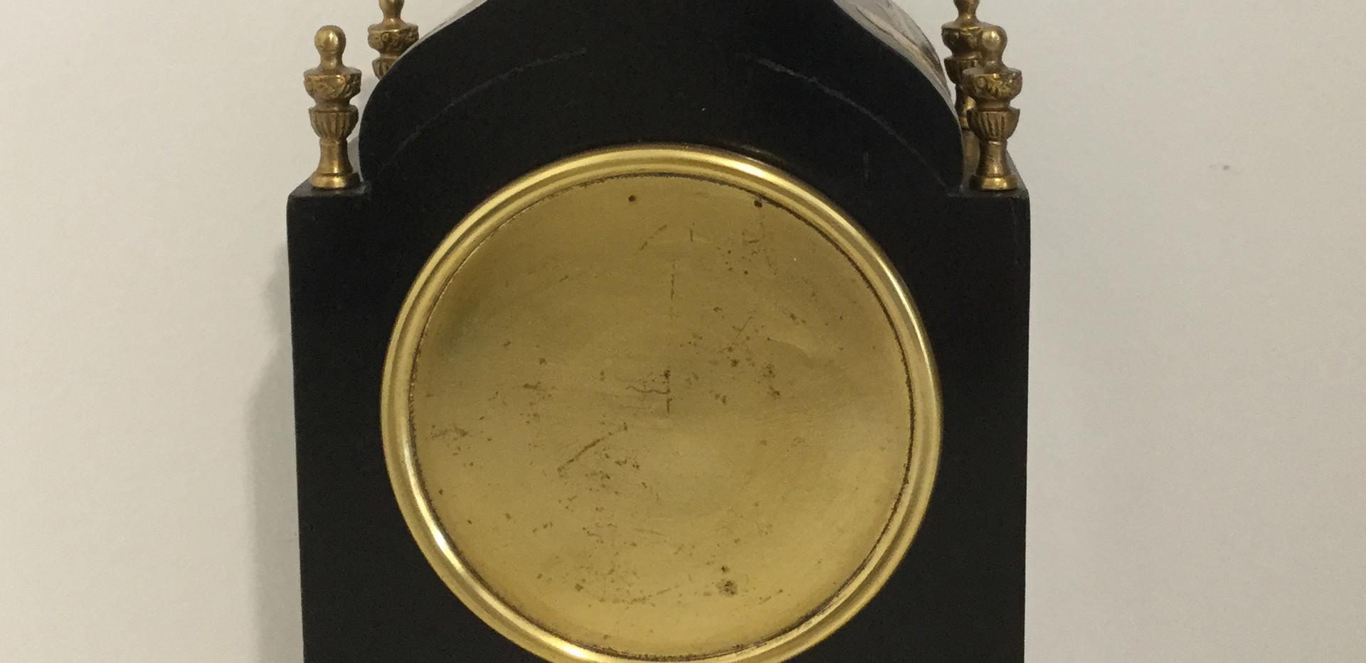 Mappin & Webb Black Chinoiserie Clock, Verso