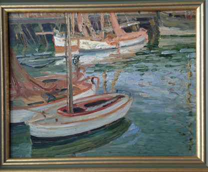 English Impressionist Harbour Scene